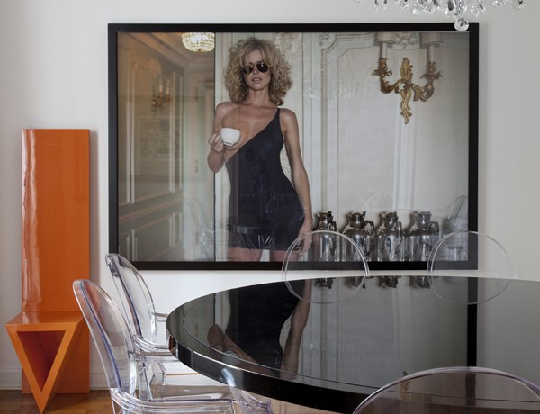 Diego Revollo Sao Paolo stylist apt dining room contemporary photography ghost chairs