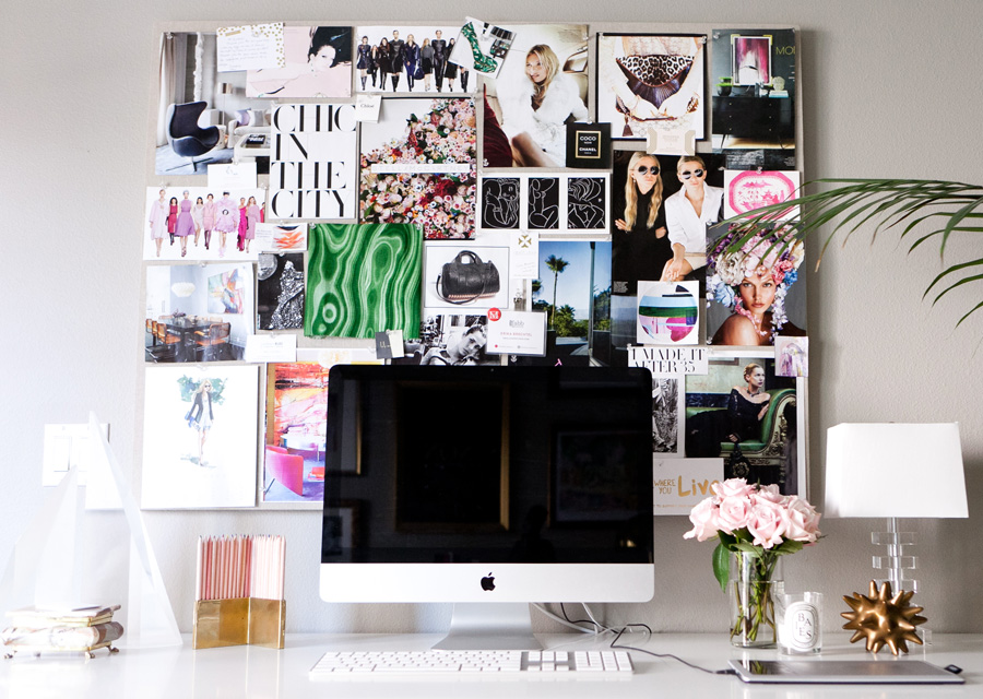 Inspiration Pinboard DIY Pink Green Kate Moss Erika Brechtel Photo By Jen Daigle