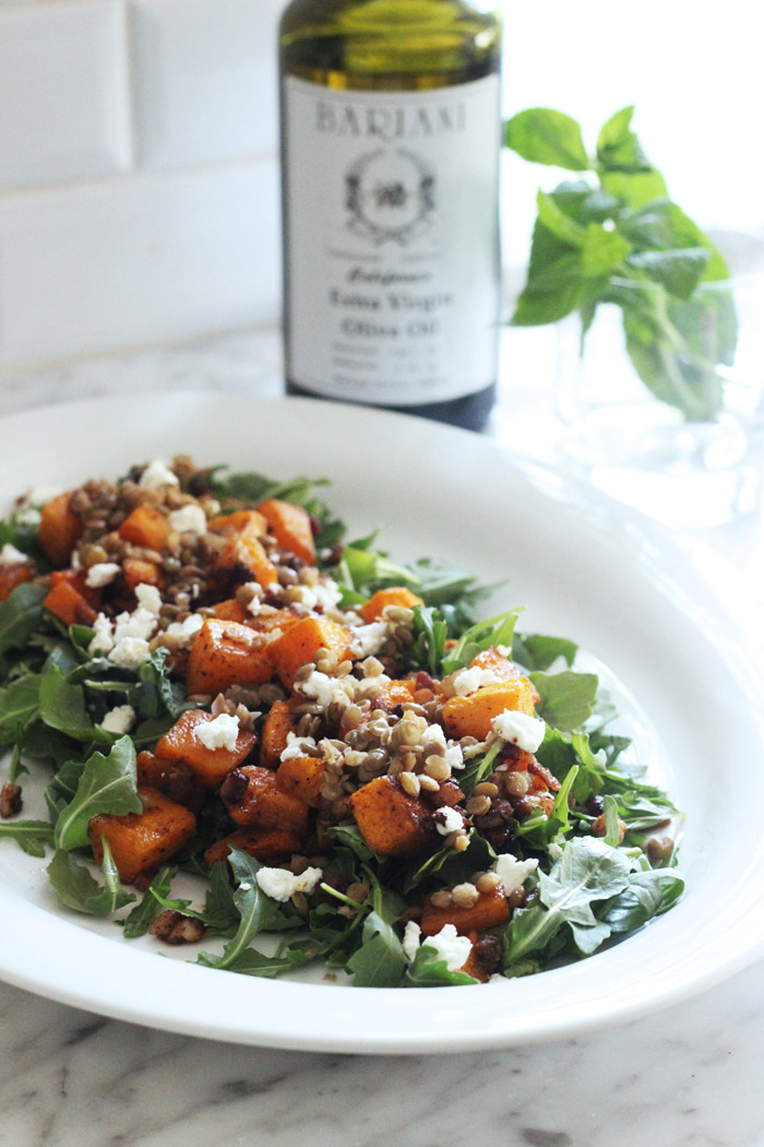 The Mix with Yuki Butternut Squash Salad with Pancetta Lentils Feta Mint 1