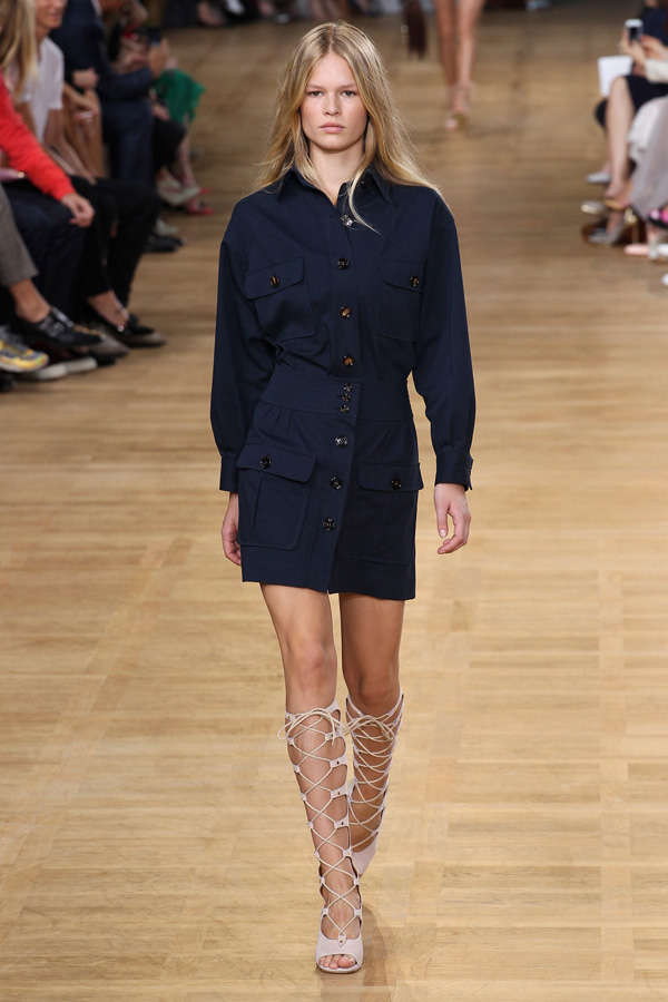 chloe ss15 navy shirt dress