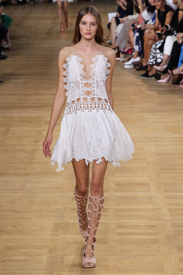 chloe ss15 white embroidered spaghetti strap dress