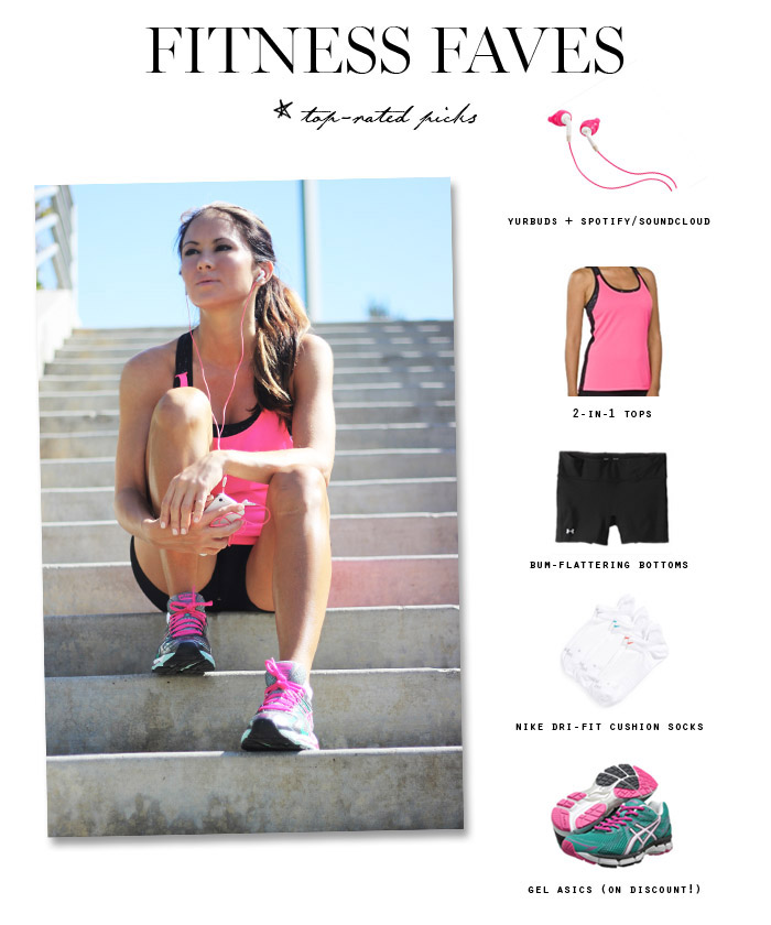 fitness faves top rated picks Erika Brechtel yurbuds asics nike under armour