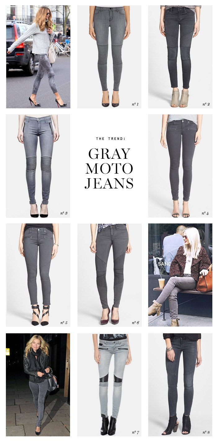 the trend gray moto jeans Erika Brechtel picks