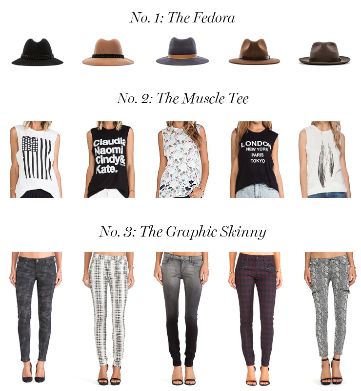 get the look fedora muscle tee graphic skinny jeans
