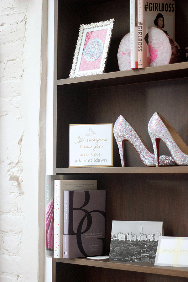 Soho NYC loft Tamra Sanford ever swoon studio bookshelves dance til dawn