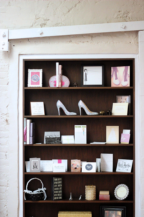 Soho NYC loft Tamra Sanford ever swoon studio bookshelves