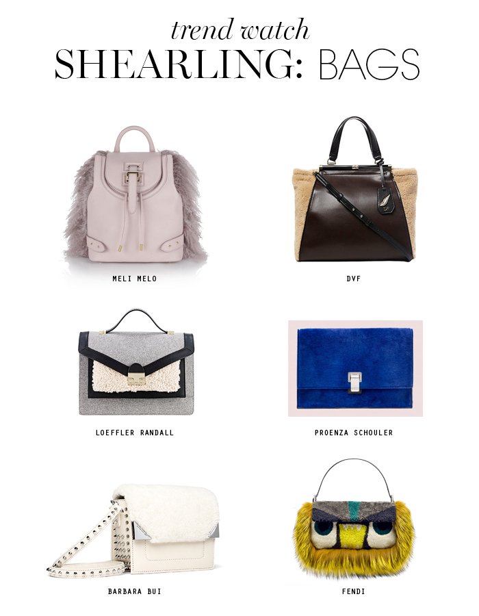 shearling trend bags