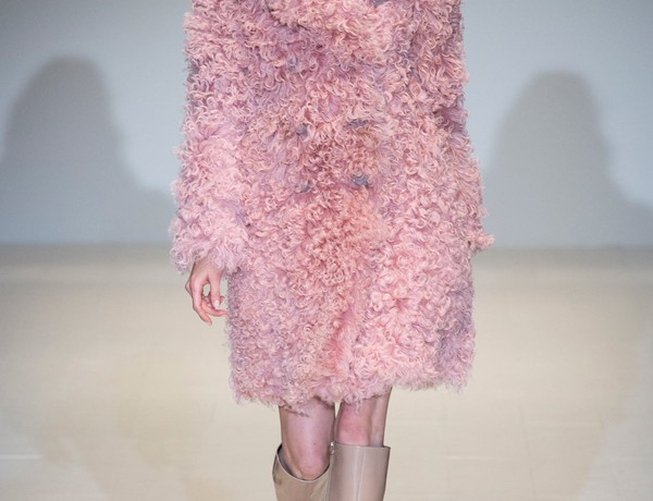 shearling trend pink coat Gucci