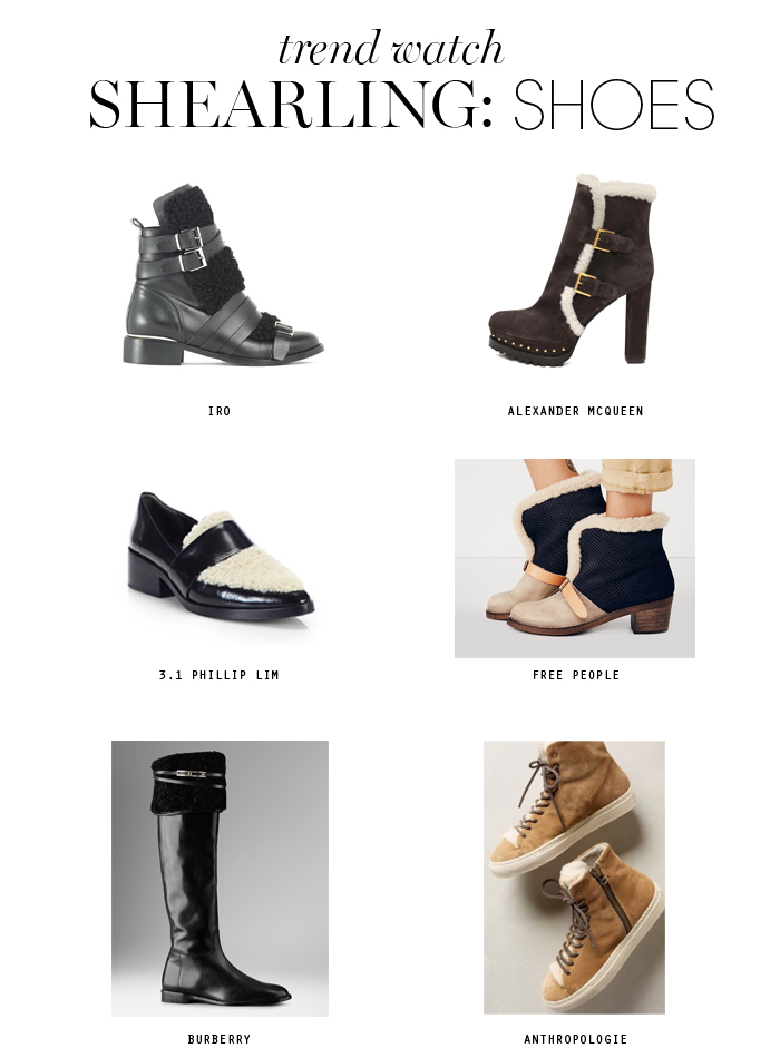 shearling trend shoes