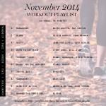 workout playlist November 2014 Erika Brechtel