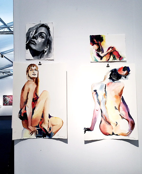 Art Basel Miami 2014 Erika Brechtel Select Art Fair Andrei Sharov watercolors