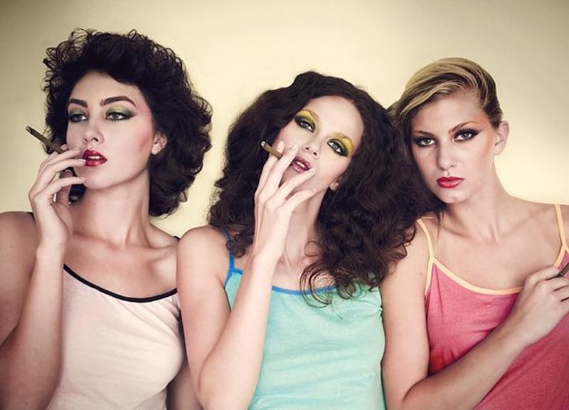Guy Bourdin fashion photography girls smoking