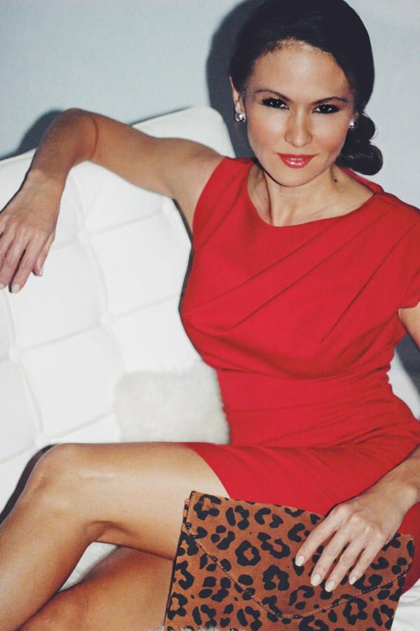 NYE 3 looks Erika Brechtel a pop of red