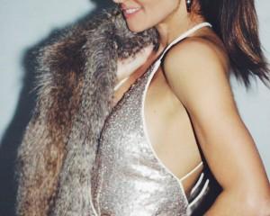 NYE 3 looks Erika Brechtel gold sequins