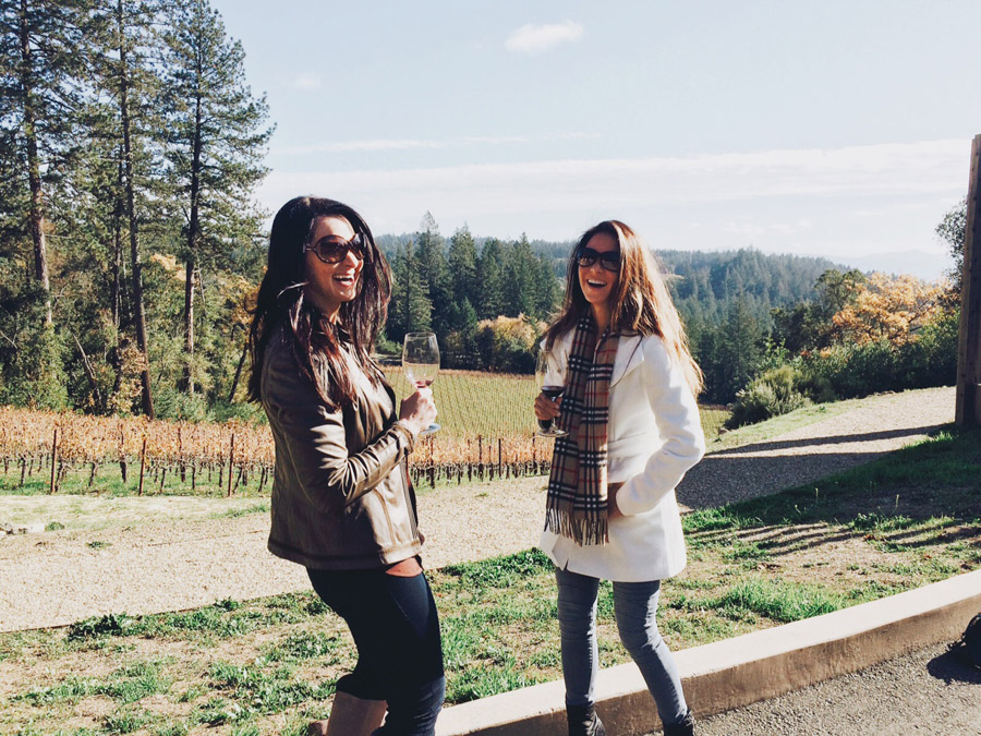 Napa Valley Thanksgiving Erika Brechtel Cade Winery Ana Miller wine tasting