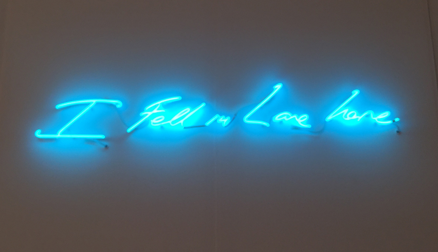 art basel miami 2014 I Fell in Love Here by Tracey Emin