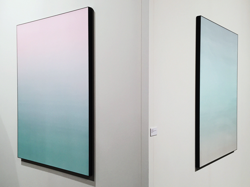 art basel miami 2014 ombre silk panels by Matti Braun