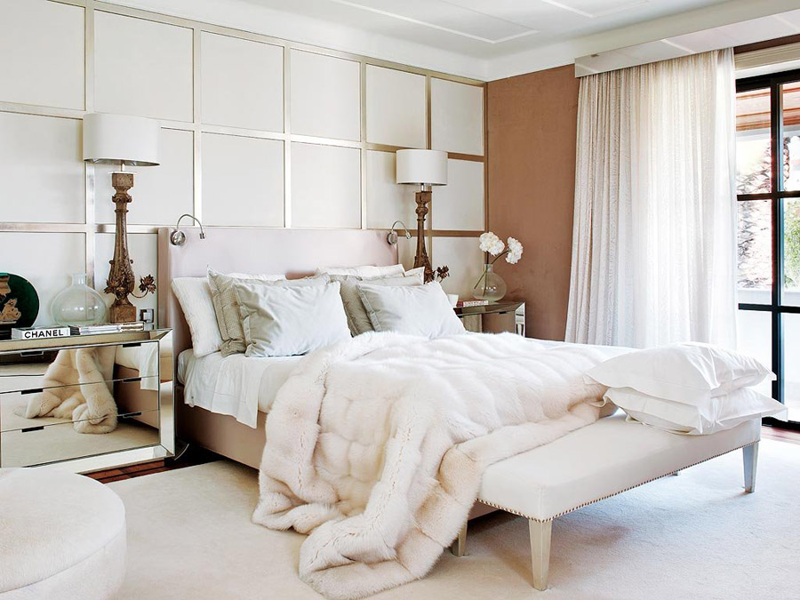 Contemporary glam in portugal erika brechtel for White fur bedroom