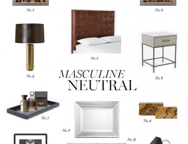masculine neutral bedroom Erika Brechtel