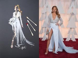 Paper Fashion Katie Rogers Oscars 2015 Q-tips illustration Chrissy Teigen Zuhair Murad dress