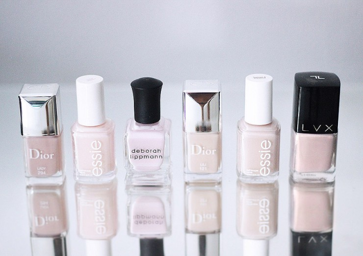 lacquer love shades of nude blush polishes Dior Essie Deborah Lippman LVX