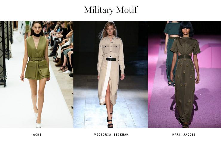 spring 2015 forecast military motif
