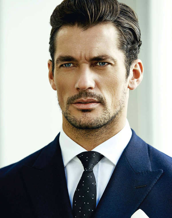 David Gandy BOND magazine blue suit