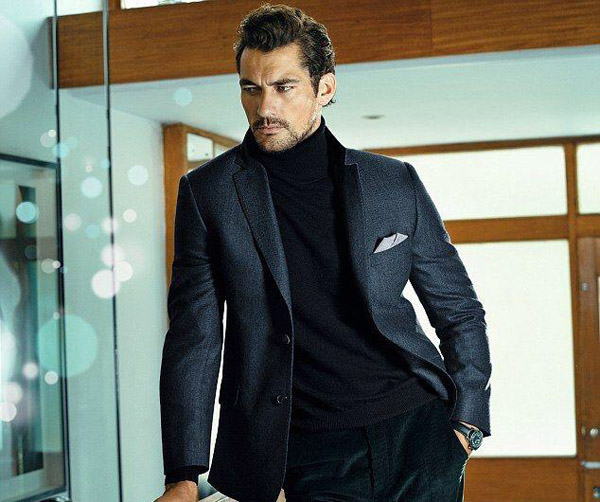David Gandy Marks and Spencer Winter 2014 turtleneck suit