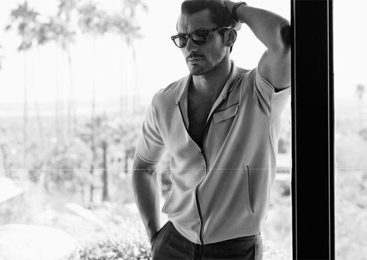 David Gandy Out Magazine black white