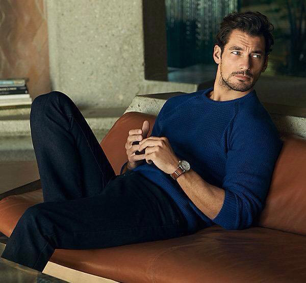 David Gandy for Marks and Spencer blue sweater