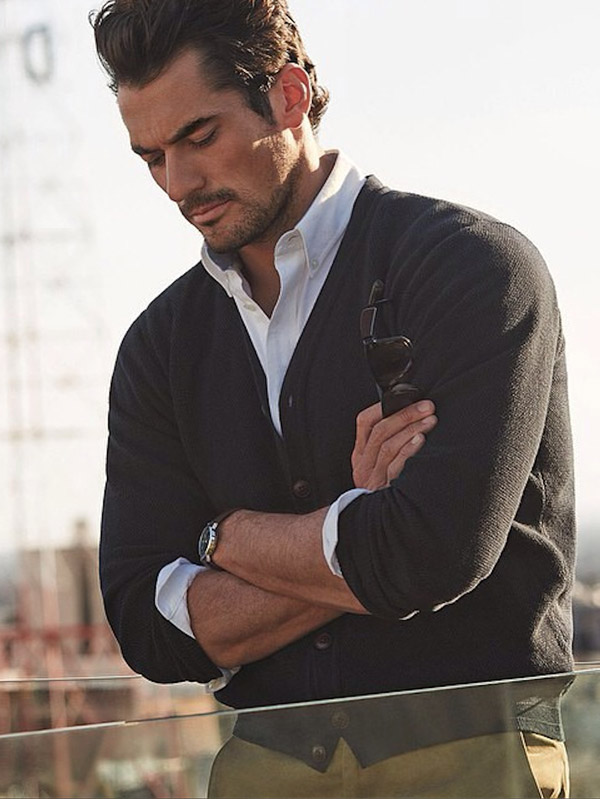 David Gandy for Marks and Spencer cardigan sweater