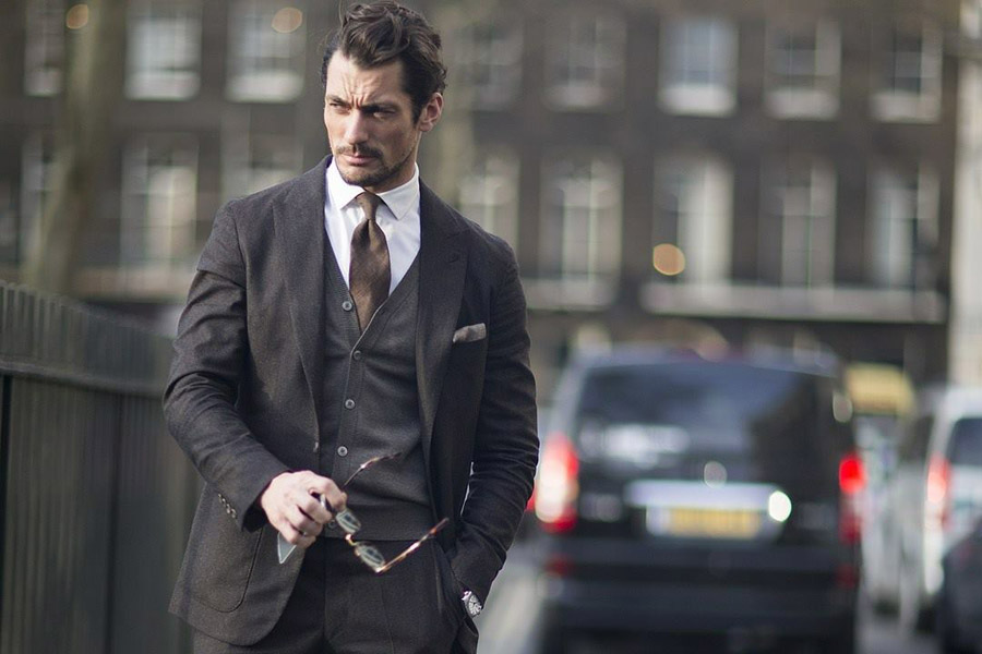 David Gandy street style via British Vogue