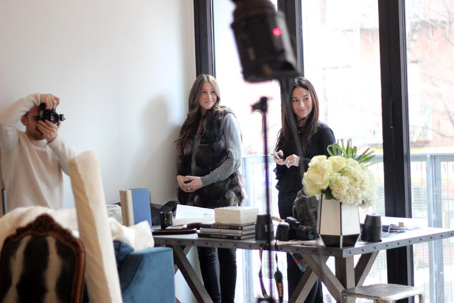 Erika Brechtel BTS HOTR NYC shoot Charli Hantman Lisa Silverman