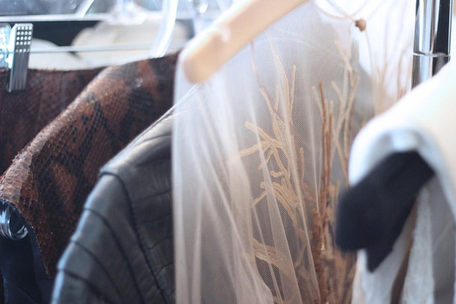 Erika Brechtel BTS HOTR NYC shoot Paola Corona embroidery detail