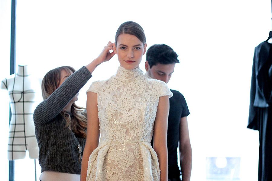 Erika Brechtel BTS HOTR NYC shoot model Oksana Dennis