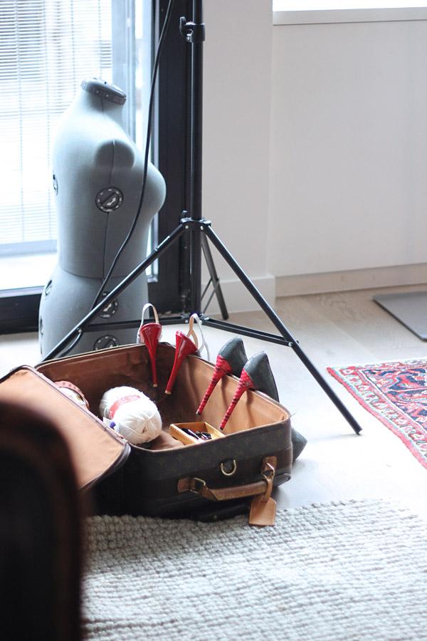 Erika Brechtel BTS HOTR NYC shoot props