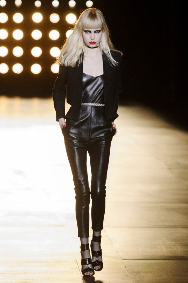 Saint Laurent Hedi Slimane FW15 leather jumpsuit