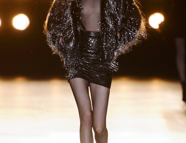 Saint Laurent Hedi Slimane FW15 sparkle fur jacket