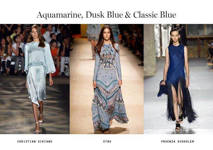 color trends 2015 aquamarine dusk blue classic blue