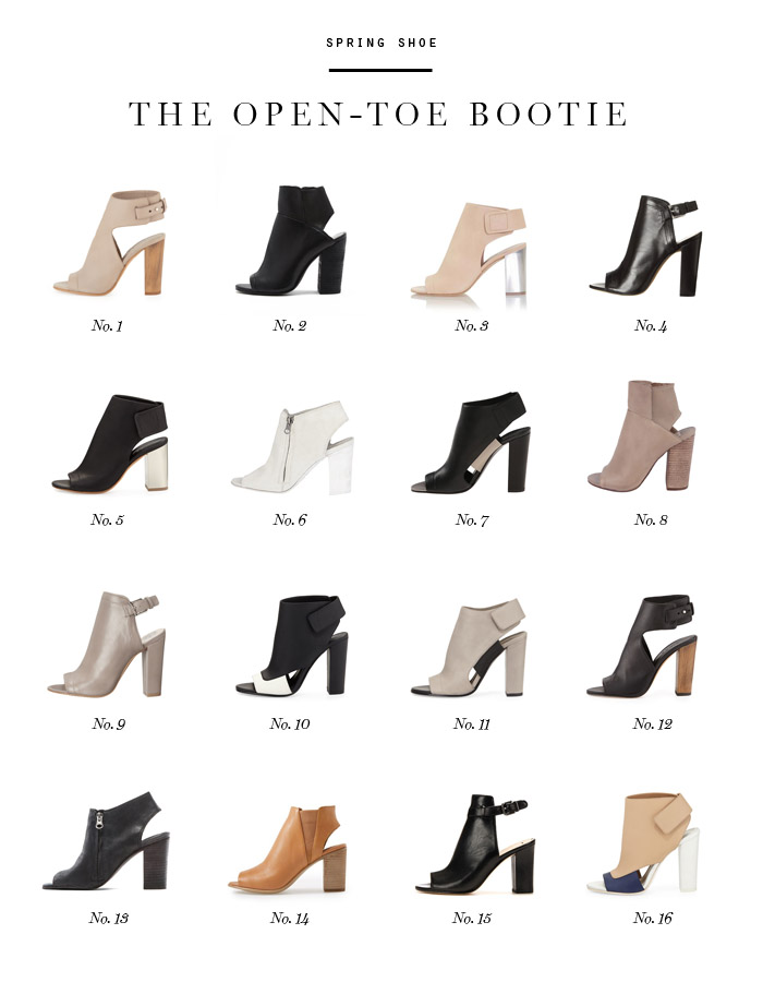 spring shoe trend open toe bootie Vince Dolce Vita Vince Camuto