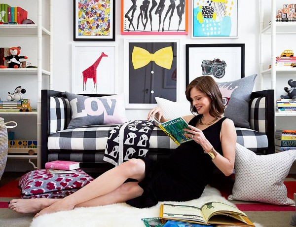Coco Rocha nursery by Alex Reid via One Kings Lane