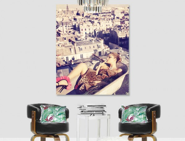 Erika Brechtel studio revamp lounge chairs rug art photography