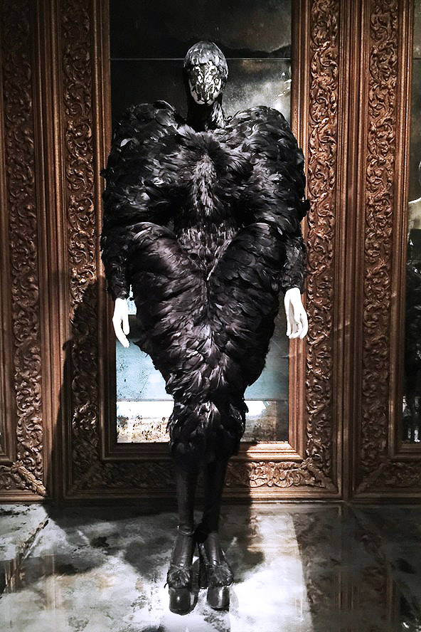 Alexander McQueen Savage Beauty Victoria and Albert Museum black feathered dress