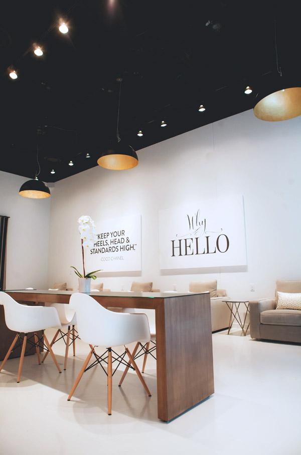 Lacquer Austin Carla Hatler client opening salon decor