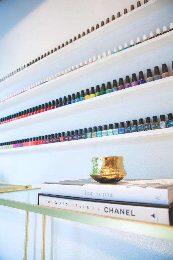 Lacquer Austin Carla Hatler client opening salon nail color wall