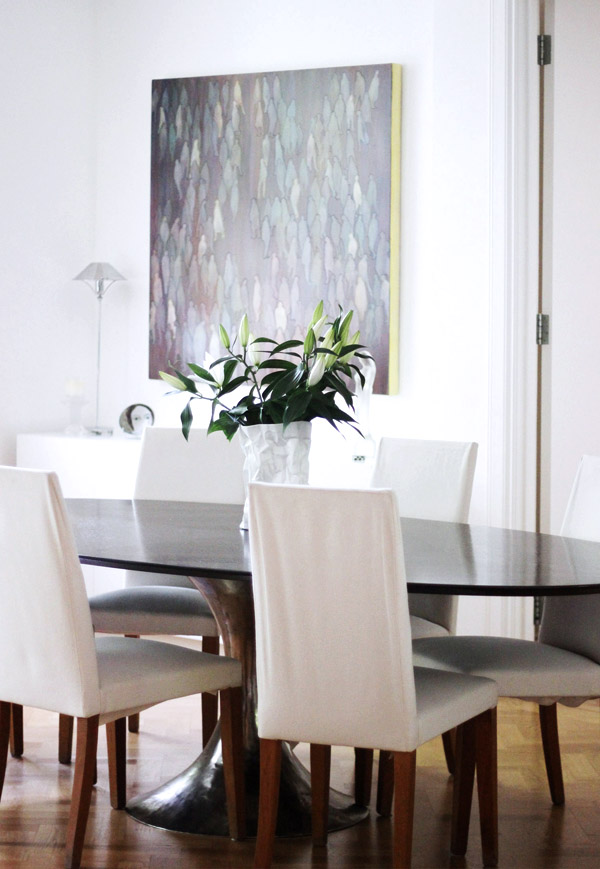 art flat Kensington london Unity Cantwell 06 dining room painting