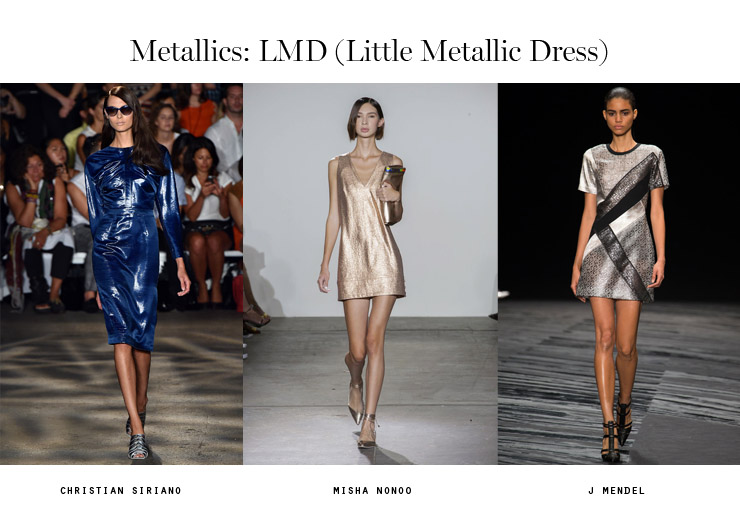 front row forecast Jolie Smith metallics SS15 LMD little metallic dress