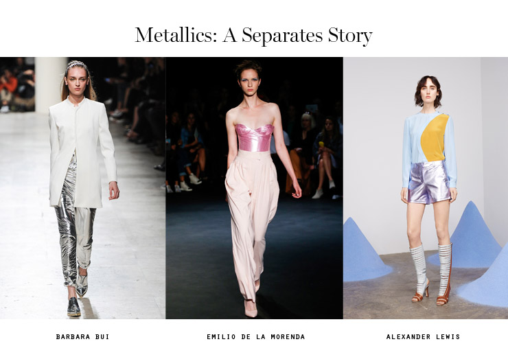 front row forecast Jolie Smith metallics SS15 a separates story