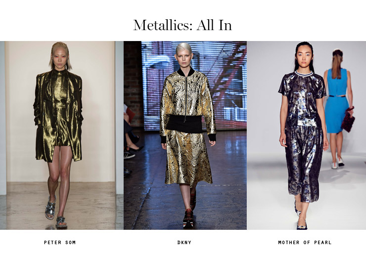 front row forecast Jolie Smith metallics SS15 all in