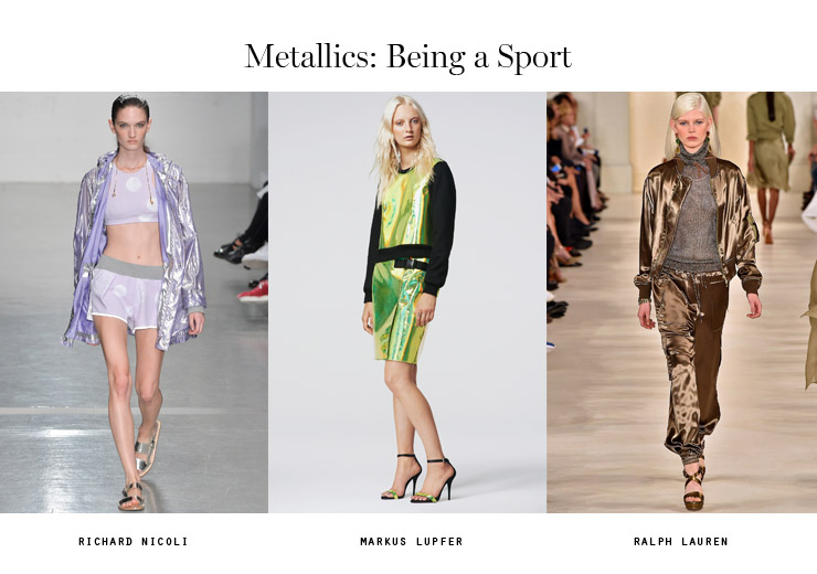 front row forecast Jolie Smith metallics SS15 being a sport